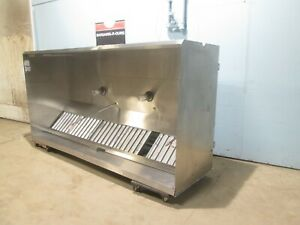 H d Commercial Ss 108 l Lighted Restaurant Type I Exhaust Hood W control Box