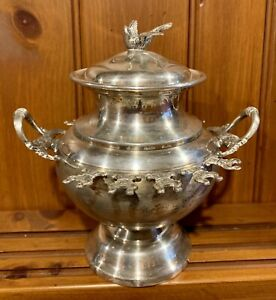 Monarch Plate Brand Silver Plated Spooner With Lid Serving Dish 7