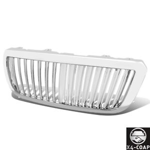 Abs Vertical Hood Grill Grille Chrome Fits 04 05 06 07 Ford Ranger Pickup Truck