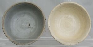 Two Chinese Yuan Ming Dynasty Saucer Dish Bowl Ceramic 14th 15th Century