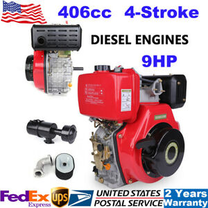 9hp 4 stroke 406cc Diesel Engine Single Cylinder Air Cooled 72 2mm Shaft Recoil