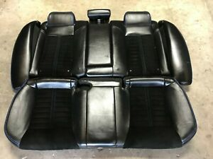 11 12 13 14 Dodge Charger Rear Seats Black Leather W Blue Stitching W Cloth