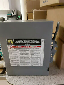 Square D Double Throw 240 Volt 30 Switch