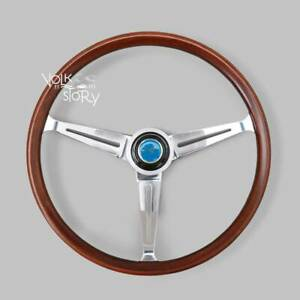 Vw Beetle Flat4 Gt Wood Vintage Steering Wheel Bug Type3 Karmman Ghia 15