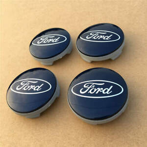 Set Of 4 Black Wheel Center Caps 54mm Rim Emblem Hubcaps Cover Logo Fit For Ford