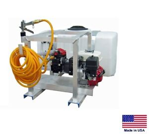 Sprayer Commercial Skid Mounted 9 5 Gpm 580 Psi 5 5 Hp 50 Gallon Tank