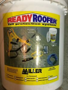 Miller 50 feet Ready Roofer Fall Protection System Harness Lanyard Rope Grab Kit