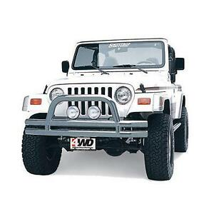 Smittybilt Front Bumper With Hoop In Stainless Steel Jb44 Fs