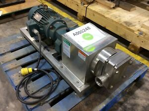 Apv R3 Stainless Steel Positive Displacement Pump 5hp With 5 15 Ratio Reducer