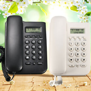 Wall Mount Corded Phone Telephone Home Office Desktop Phone With Caller Display