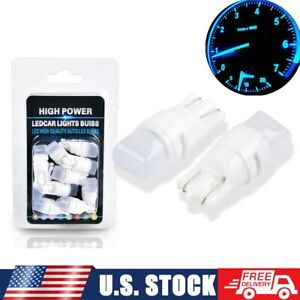 10x 8000k Ice Blue T10 Led Instrument Panel Light Bulb For Ford F150 192 168 194