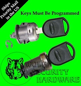 Ford Ignition And Single Door Key Switch Lock Cylinder Set 2 Pats Keys