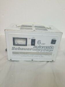 Vintage Schauer 6 Amp Automatic For 12 Volt Battery Charger Model 3735 61 Usa