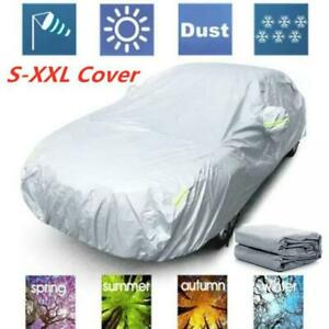 Universal Suv Car Full Covers Outdoor Sun Dust Uv Protection Silver Reflective