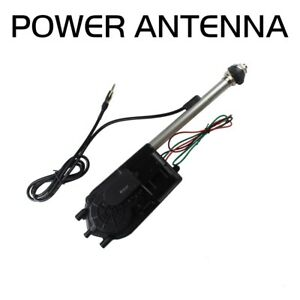 Auto Stainless Steel Electric Power Antenna Am Fm Radio Mast 12v Long Lasting