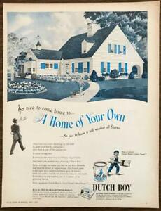 1946 Dutch Boy Paints Print Ad Nice to Come Home That Will Weather All Storms