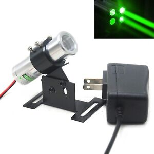 532nm 50mw Green Dot Thick Beam Laser Module Stage 5v Adapter Adjustable Holder