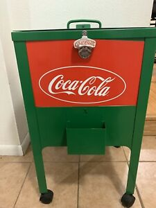 Coca Cola Ice Chest Cooler Green And Red One Of A kind