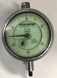 Federal Wc5m Dial Indicator With Flat Back 0 075 Range 0005 Graduation