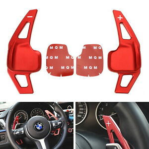 Red Steering Wheel Paddle Shifter Extension Covers For Bmw 2 3 4 5 6 X1 X4 X5 X6