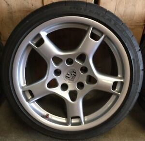 19 Porsche 911 997 Oem Factory Set Rims Wheels Carrera Lobster Claw No Tires