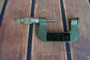 Brown And Sharpe Metric Micrometer No 210 12 Swiss Made Thread Great Condition