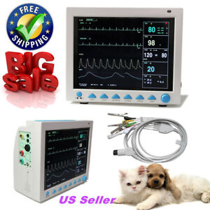 Contec Multiparameter Veterinary Vital Signs Patient Monitor optional Co2 Stand
