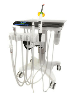 Dental Delivery Unit Portable Mobile Cart With Air Compressor 3 way Syringe 302s
