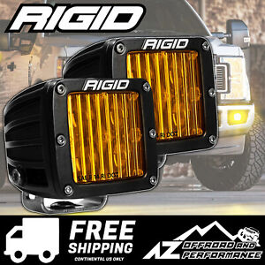 Rigid Industries D Series Pro Led Light Bar Pods Yellow Driving Pair 504814
