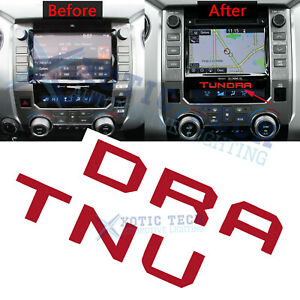 Red Radio Center Insert Tundra Letters Sticker Decal For Toyota Tundra 2014 2019