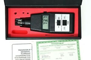 Vwr Traceable Handheld Hygrometer Thermometer 35519 04 Calibration Certificate