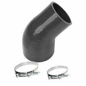 Angled Radiator Silicone Hose With Clamps Fits 1994 2002 Dodge Black