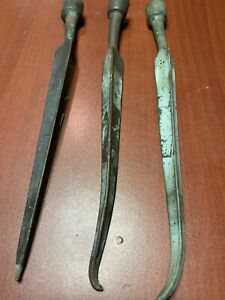 3 Each Antique Copper Lightning Rod Tip 3 Sided Barn Finial 9 1 2 K32