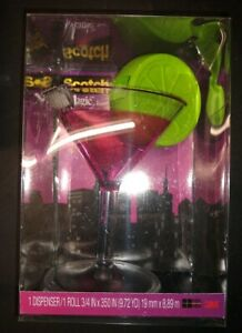 Scotch 3m Magic Tape Dispenser Cosmopolitan With Lime Garnish New With Tape