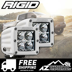 Rigid Industries D series Pro Led Light Bar Pods Flood Lens White 602113