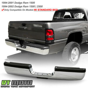 1994 2001 Dodge Ram 1500 2500 3500 Chrome Complete Rear Step Pad Bumper Assembly