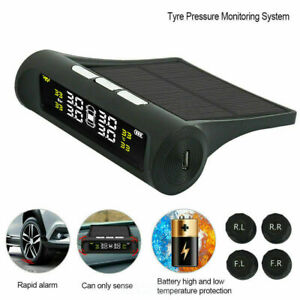 Universal Car Wireless Tpms Tire Tyre Pressure Monitor System Solar Power