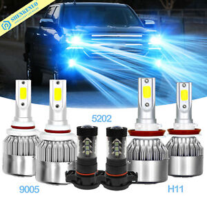 Led Headlight Fog Light Bulbs Kit 8000k For Chevy Silverado 1500 2500 07 2014 Us