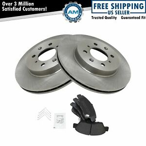 Front Metallic Brake Pad Rotor Kit For Honda Civic Ex Del Sol Fit