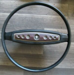 1968 Ford Mustang Deluxe Steering Wheel Horn Pad Excellent Original