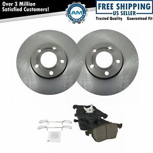 Front Rotors Ceramic Brake Pads W Sensors Kit For Vw Passat Audi A4
