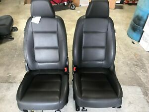 09 17 Vw Tiguan Front Seats Black Leather Seats Oem