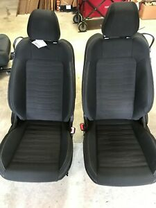 15 17 Ford Mustang Front Seats Black Cloth Oem