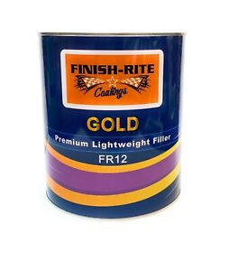 Finish Rite Gold Premium Lightweight Auto Body Filler W Hardener Fr 12