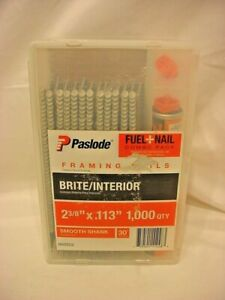 Paslode 2 3 8 X 113 Smooth Shank Framing Nails 1000 Fuel Combo Pack 650522