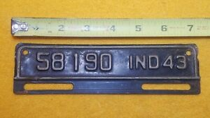 Vintage 1943 43 Indiana License Plate Topper 58190