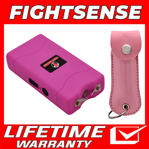 Cheetah Mini Stun Gun And Pepper Spray For Self Defense extremely Powerful Pink