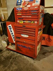 Snap On Vintage Tool Box 3 Piece Plus Wheeled Base