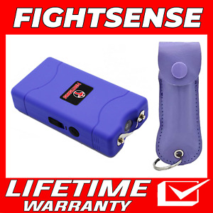 Mini Stun Gun And Pepper Spray For Self Defense extremely Powerful Purpl