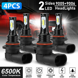 9005 9006 Combo 160w Led Headlight Bulb Kits High Low Beam Fog Light White 6000k